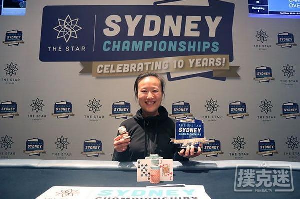 【Bodog博狗】Sosia Jiang赢得悉尼锦标赛豪客赛冠军,奖金A6,000
