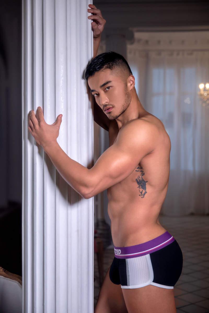 男人阴茎的图片(真图) 男模特樊野内裤写真帅哥激凸性感诱人