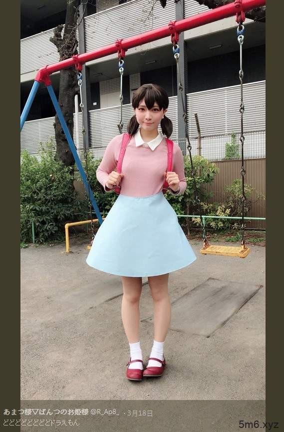 哆啦A梦真人版静香 あまつ様cosplay静香诠释可爱