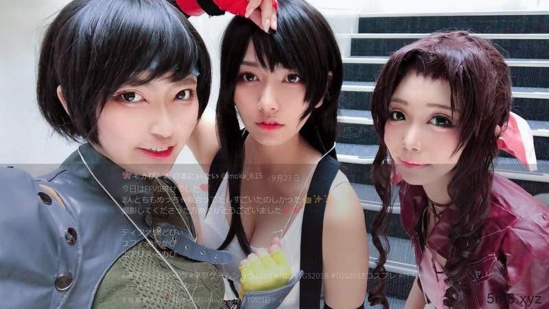 东京电玩展超美cosplay 正妹cosplay《最终幻想7》蒂法