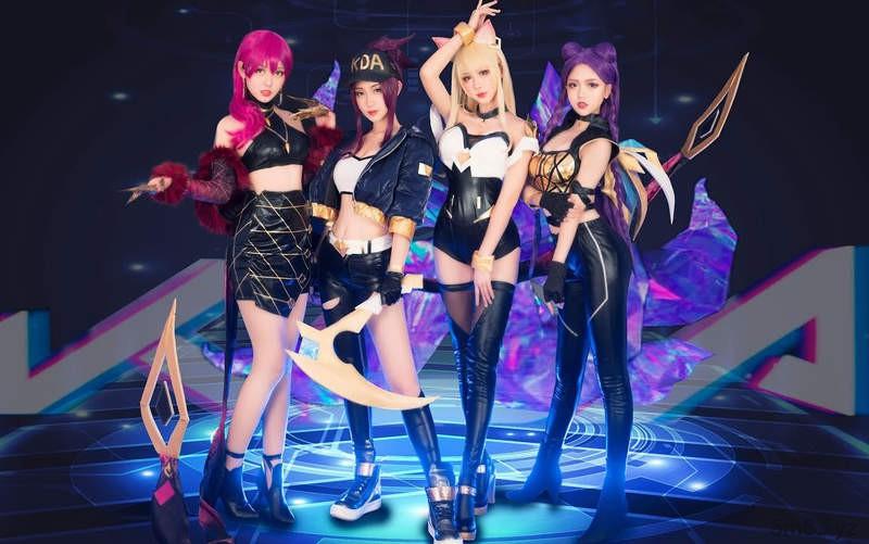 波利花菜园Cosplay虚拟女团歌曲《POP/STARS》 翻跳团体还原MV超洗脑