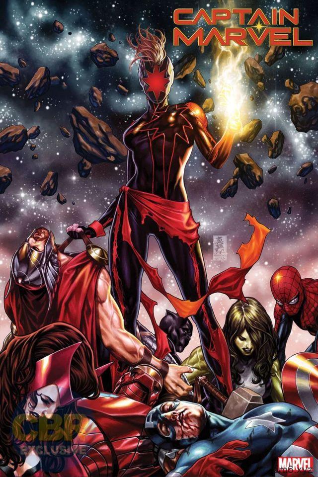 黑化版惊奇队长设计图 攻击复仇者联盟威胁漫威宇宙