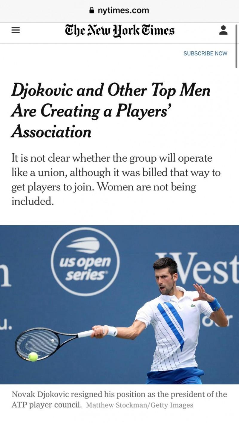 【博狗体育】德约称新组织并非为取代ATP 主席群发邮件表不满