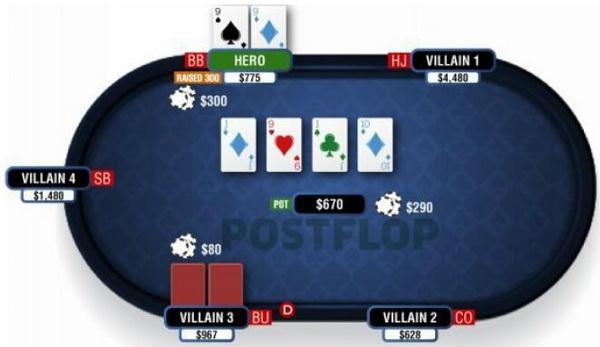 德州扑克翻牌圈击中葫芦或四条-3
