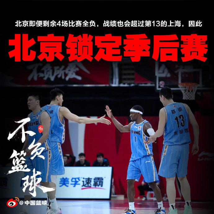 【博狗体育】北京队已确保前12名次 提前锁定季后赛资格