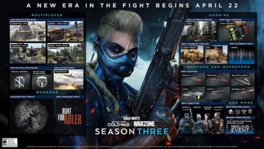 【博狗新闻】《COD:战区》新赛季活动路线图 新增六把武器和四张地图 ios手游下载