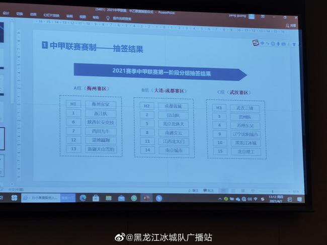 【博狗体育】2021赛季中甲分组:三赛区激战 浙江梅州同组