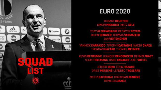 【博狗体育】比利时男足欧洲杯名单:阿扎尔领衔 卡拉斯科在列