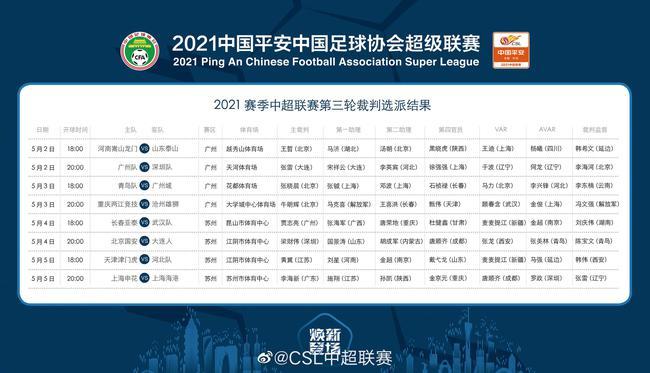 【博狗体育】中超第3轮裁判:李海新执法上海德比 张雷吹广州队